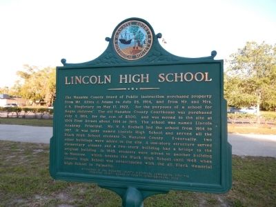 Lincoln High School Marker image. Click for full size.