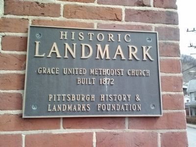 Grace United Methodist Church Marker image. Click for full size.