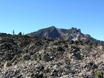 Big Obsidian Flow image. Click for full size.