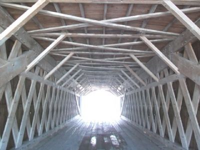 Roseman Covered Bridge Trusswork image. Click for full size.