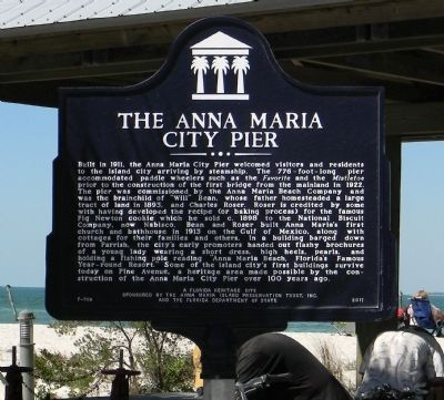 The Anna Maria Pier Marker image. Click for full size.