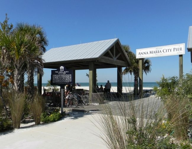 Wide view of The Anna Maria Pier Marker image. Click for full size.