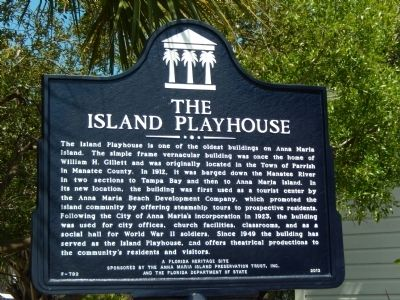 The Island Playhouse Marker image. Click for full size.