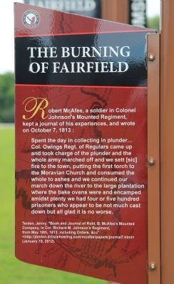 The Burning of Fairfield Marker image. Click for full size.
