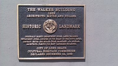 The Walker Building Marker image. Click for full size.