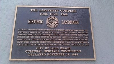 The Lafayette Complex Marker image. Click for full size.
