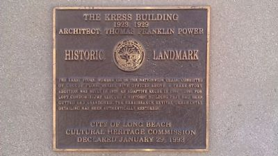 The Kress Building Marker image. Click for full size.