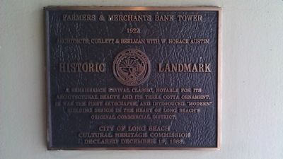 Farmers & Merchants Bank Tower Marker image. Click for full size.