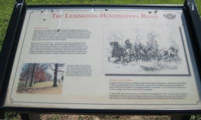 The Lexington-Huntingdon Road Marker image. Click for full size.