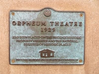 Orpheum Theatre Marker image. Click for full size.