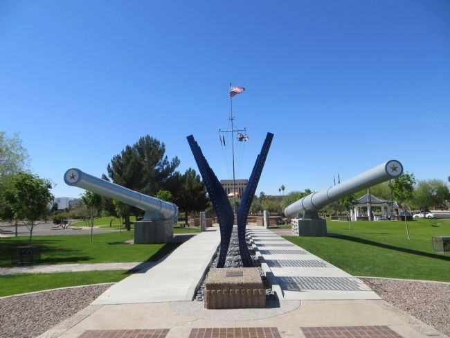 Arizona World War II Memorial image. Click for full size.