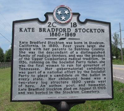 Kate Bradford Stockton Marker image. Click for full size.