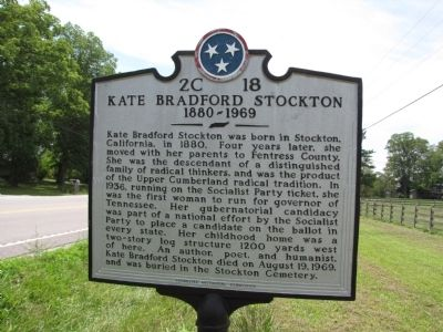 Kate Bradford Stockton Marker image, Touch for more information