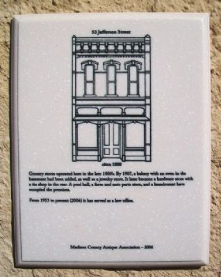 53 Jefferson Street Marker image. Click for full size.