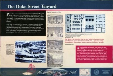 The Duke Street Tanyard Marker image. Click for full size.