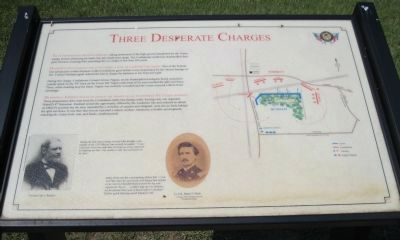 Three Desperate Charges Marker image. Click for full size.