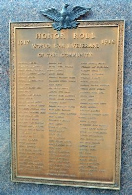Milford World Wars Honor Roll Marker image. Click for full size.