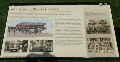 Montgomery Street Barracks Marker image. Click for full size.