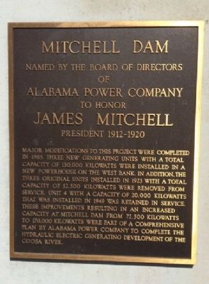 Mitchell Dam Marker image. Click for full size.