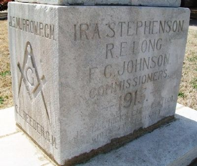 Cornerstone from [Atoka] County Courthouse image. Click for full size.