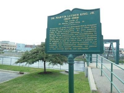 Dr. Martin Luther King, Jr. Marker (wide view) image. Click for full size.