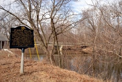 Joaquin Miller Marker Next to the Tippecanoe River image. Click for full size.