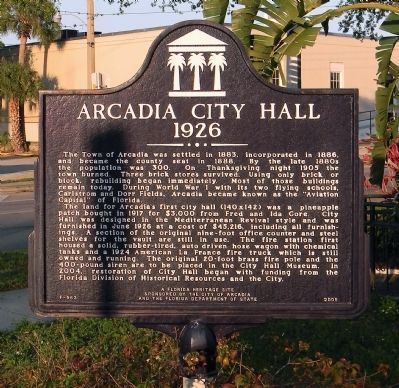 Arcadia City Hall Marker image. Click for full size.