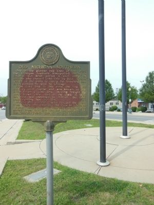Old Michigan Southern Marker image. Click for full size.