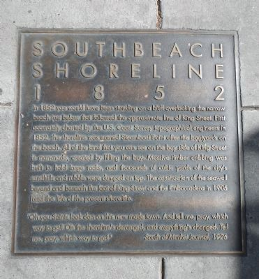 Southbeach Shoreline – 1852 Marker image. Click for full size.