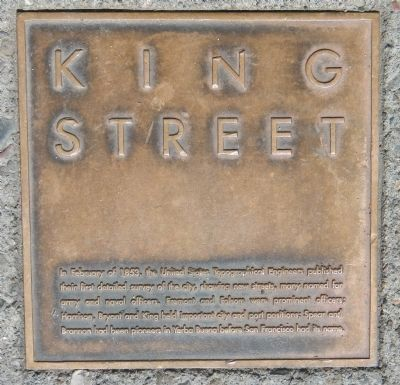 King Street Marker, top left image. Click for full size.