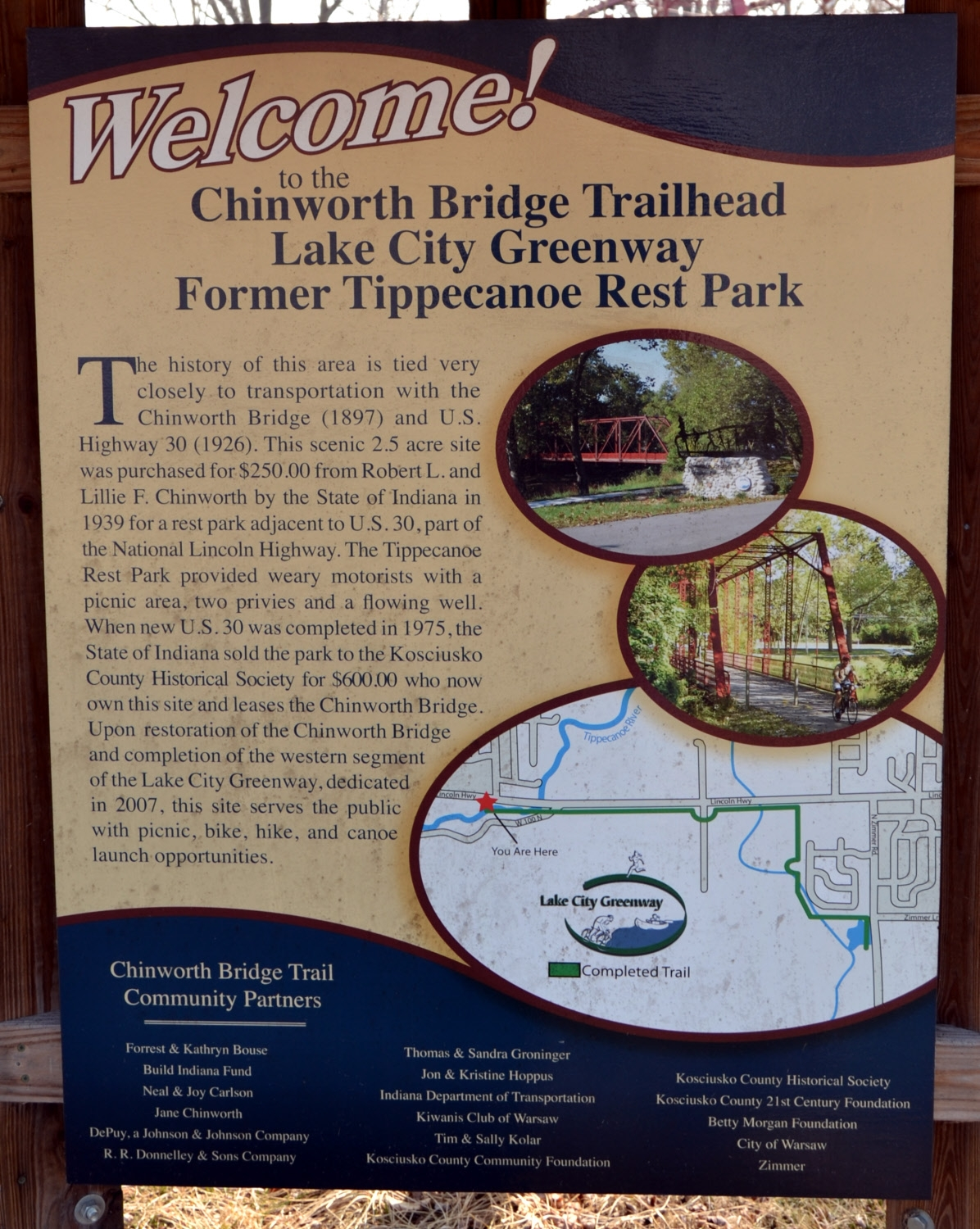 Chinworth Bridge Trailhead Marker