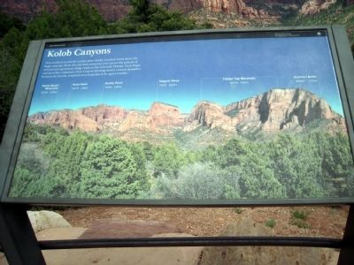 Kolob Canyons Marker image. Click for full size.