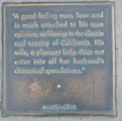 Townsend Street Marker, bottom left plaque image. Click for full size.