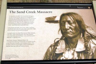 The Sand Creek Massacre Marker image. Click for full size.