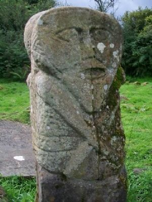 Caldragh Graveyard Janus Stone Figure A image. Click for full size.