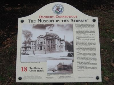 The Danbury Court House Marker image. Click for full size.