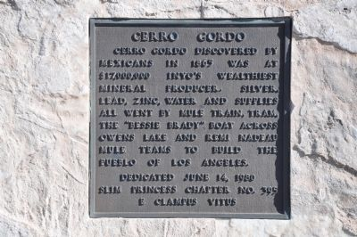 Cerro Gordo Marker image. Click for full size.