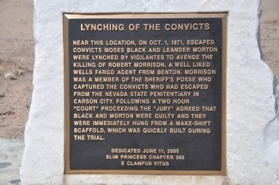Lynching of the Convicts Marker image. Click for full size.