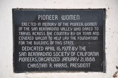 Pioneer Women Marker image. Click for full size.