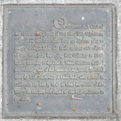Harrison Street Marker, center right plaque image. Click for full size.