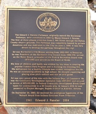 Edward J. Fansler Pathways Marker image. Click for full size.