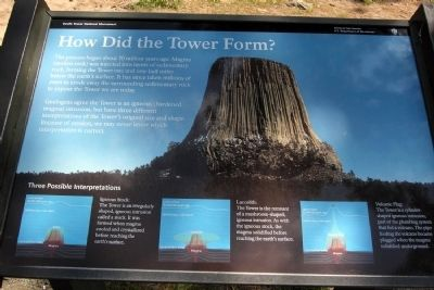How Did the Tower Form? Marker image. Click for full size.