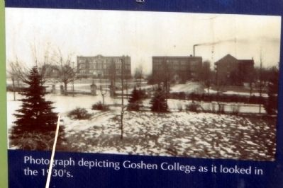 Goshen College in the 1930's image. Click for full size.