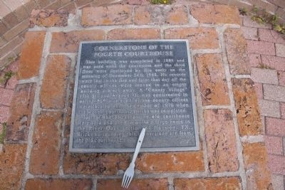 Cornerstone of the Fourth Courthouse Marker image. Click for full size.
