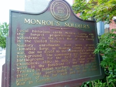 Monroe's Soldiers Marker image. Click for full size.