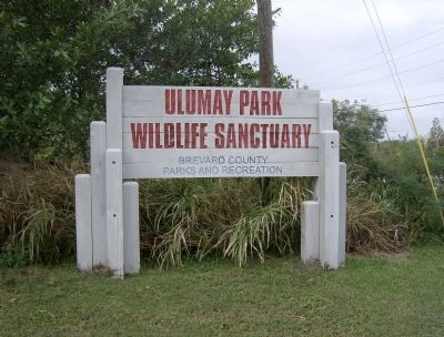 Ulumay Wildlife Sanctuary Sign image. Click for full size.