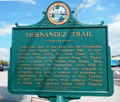 Hernandez Trail Marker image. Click for full size.