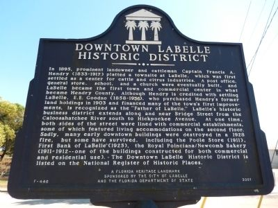 Downtown LaBelle Historic District Marker image. Click for full size.