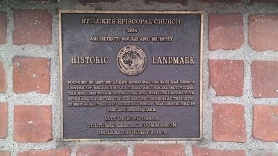 St. Luke's Episcopal Church Marker image. Click for full size.