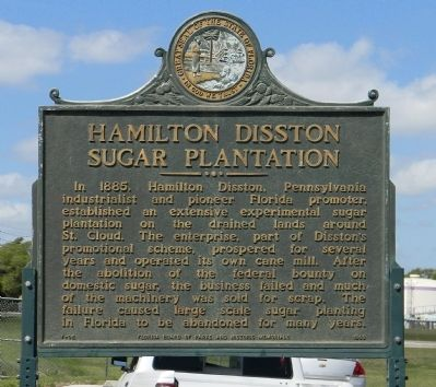 Hamilton Disston Sugar Plantation Marker image. Click for full size.